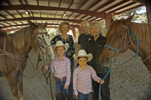 Riding Arena Cover with generational riders
