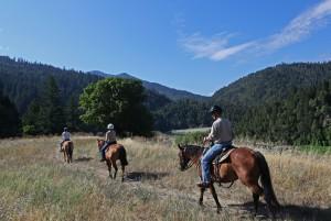 Riding through scenic vistas at California's guest ranch