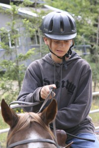 Kids on an active horse riding vacation