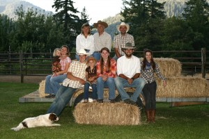 dude ranch owners and family