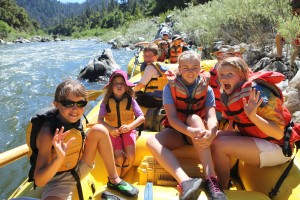 Large Family reunions keep kids engaged with exciting activities such as white water rafting
